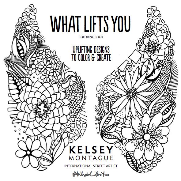Coloring Book Title Page Kelsey Montague Art